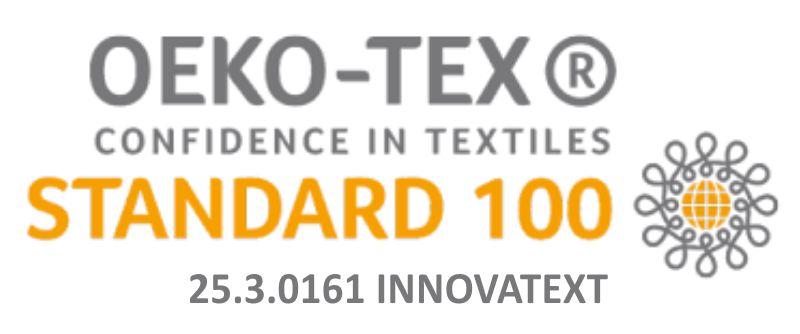Materiał z którego wykonane są maseczki posiada certyfikat OEKO-TEX -STANDARD 100