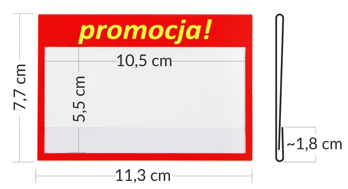 przezroczyste osłonki cenowe - kieszonka mieści etykietę 11 x 7,5 cm