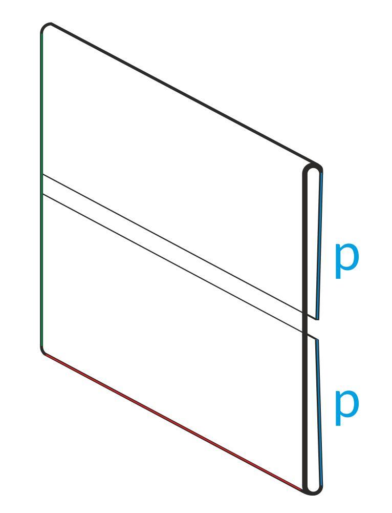 osłonki cenowe zaginane z PVC przezroczystego z przerwą z tyłu