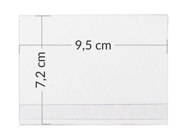 Przezroczyste kieszonki - koszulki na ceny na etykiety 9,5 x 7,2 cm