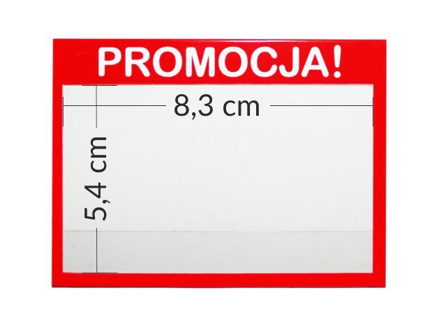 Osłonki promocyjne - przezroczyste kieszonki na cenówki z napisem PROMOCJA