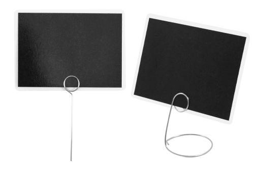 Szpilki i stojaczki stalowe do mocowania czarnych etykiet laminowanych