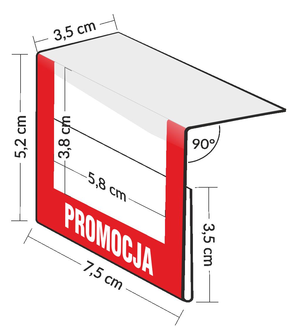 Osłonki cenowe - przezroczyste kieszonki  na etykiety - zawieszki na półki