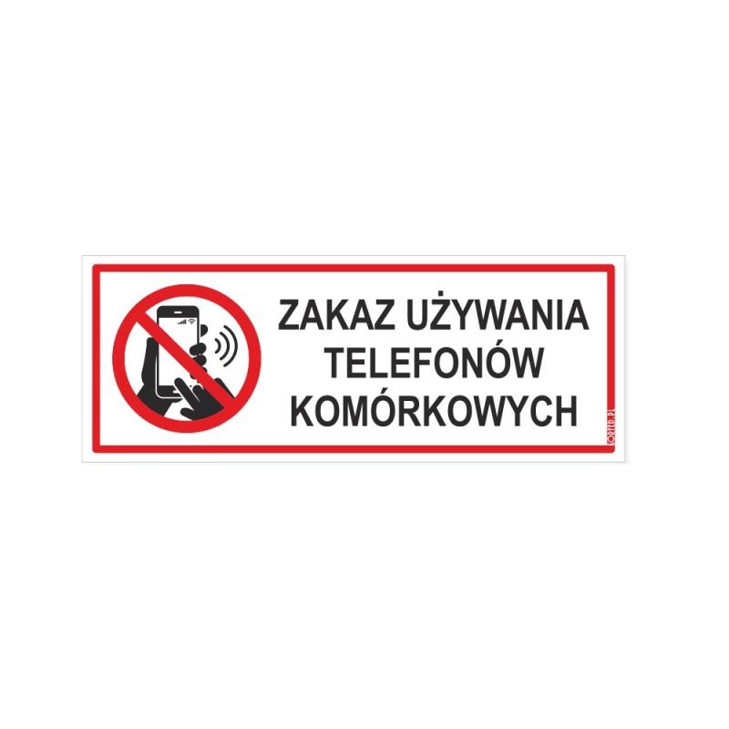 Zakaz używania telefonów komórkowych plakietki plastikowe wodoodporne