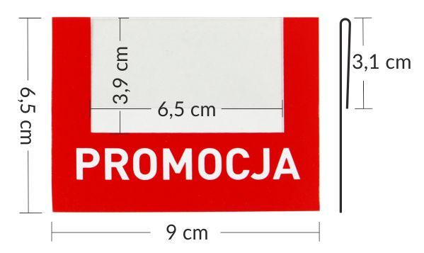 Zawieszka regałowa - osłonka do listew cenowych PROMOCJA